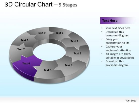 PowerPoint Slide Designs Company Circular Chart Ppt Slides