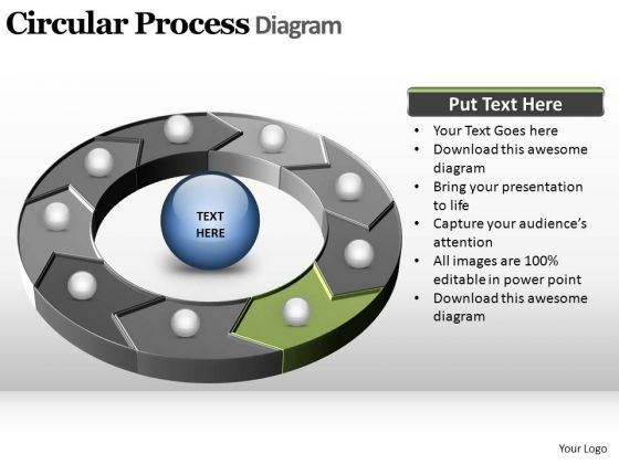 PowerPoint Slide Designs Company Circular Process Ppt Backgrounds