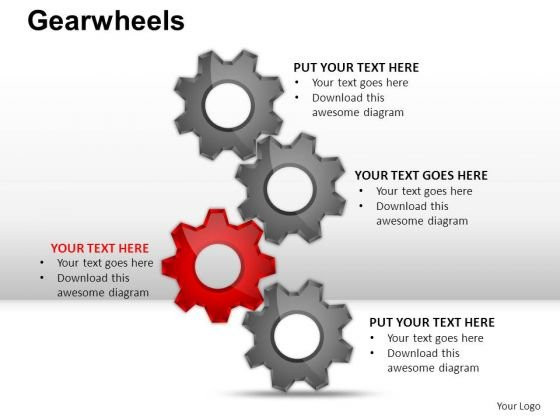 PowerPoint Slide Designs Company Gear Wheel Ppt Themes