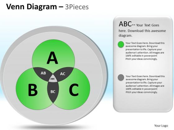 PowerPoint Slide Designs Company Leadership Vision Venn Circle Diagram Ppt Layout