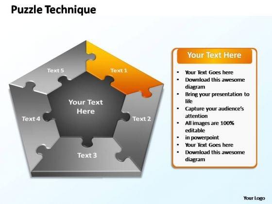 PowerPoint Slide Designs Company Puzzle Technique Ppt Backgrounds