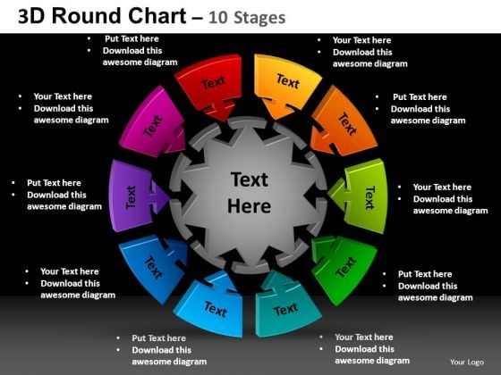 PowerPoint Slide Designs Company Round Chart Ppt Backgrounds