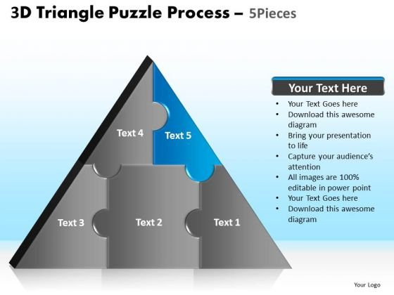 PowerPoint Slide Designs Company Triangle Puzzle Ppt Design