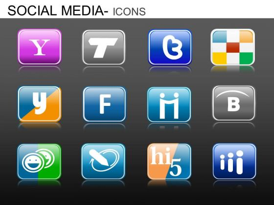 PowerPoint Slide Designs Corporate Designs Social Media Icons Ppt Templates
