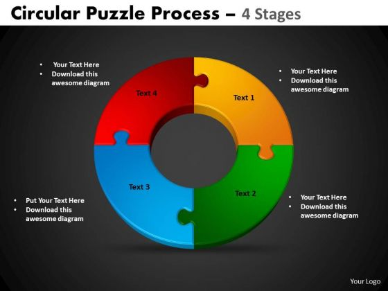 PowerPoint Slide Designs Cycle Chart Circular Puzzle Ppt Templates