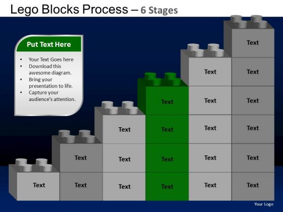PowerPoint Slide Designs Diagram Lego Blocks Ppt Themes