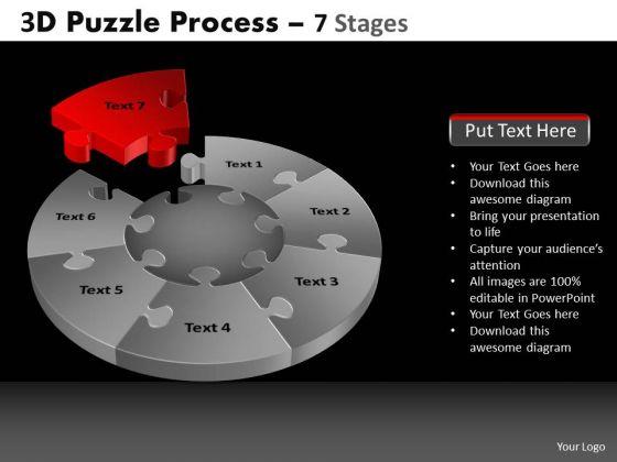 PowerPoint Slide Designs Diagram Pie Chart Puzzle Process Ppt Slidelayout
