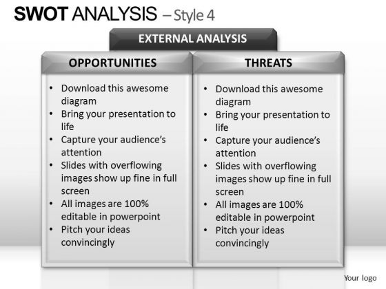 PowerPoint Slide Designs Diagram Swot Analysis Ppt Process