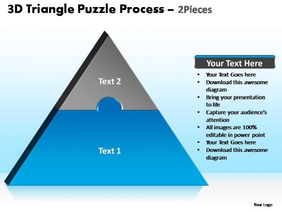 PowerPoint Slide Designs Download Triangle Puzzle Ppt Designs
