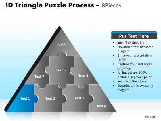 PowerPoint Slide Designs Download Triangle Puzzle Ppt Theme