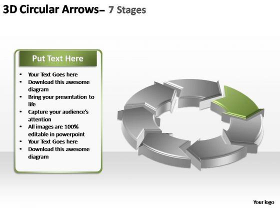 PowerPoint Slide Designs Editable Circular Arrows Ppt Themes