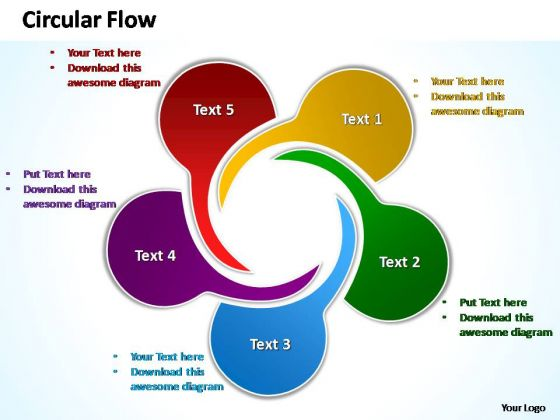 powerpoint slide designs editable circular flow ppt design