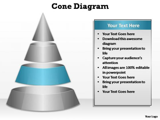 PowerPoint Slide Designs Editable Cone Diagram Ppt Slides