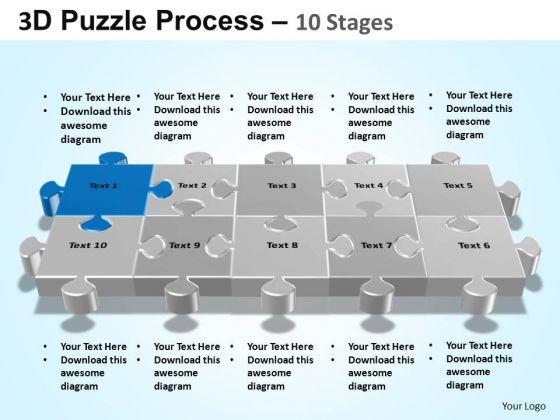 PowerPoint Slide Designs Editable Puzzle Process Ppt Slide Designs