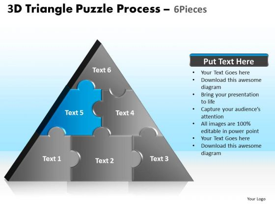 PowerPoint Slide Designs Editable Triangle Puzzle Ppt Theme