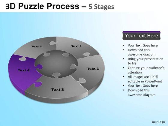 PowerPoint Slide Designs Education Jigsaw Pie Chart Ppt Template
