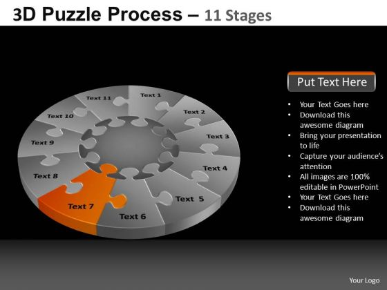 PowerPoint Slide Designs Education Pie Chart Puzzle Process Ppt Slide