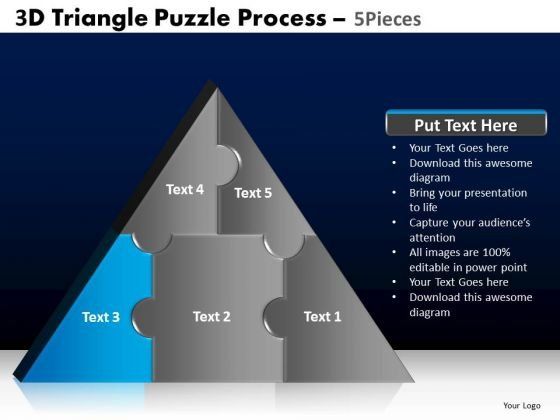 PowerPoint Slide Designs Education Triangle Puzzle Ppt Themes