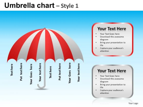 PowerPoint Slide Designs Executive Competition Umbrella Chart Ppt Theme