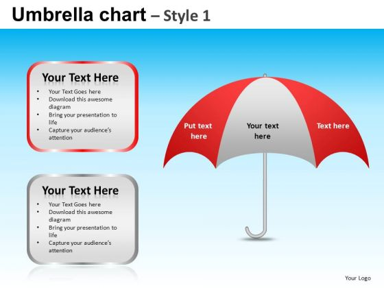 PowerPoint Slide Designs Executive Growth Targets Umbrella Chart Ppt Presentation