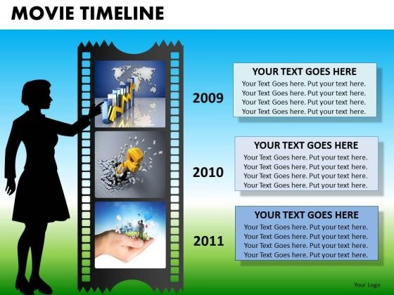 PowerPoint Slide Designs Executive Leadership Movie Timeline Ppt Template