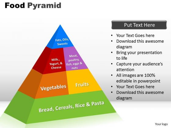 PowerPoint Slide Designs Food Pyramid Strategy Ppt Theme