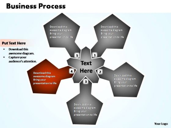 PowerPoint Slide Designs Graphic Business Process Chart Ppt Slide