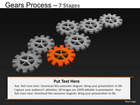 PowerPoint Slide Designs Graphic Gears Process Ppt Template