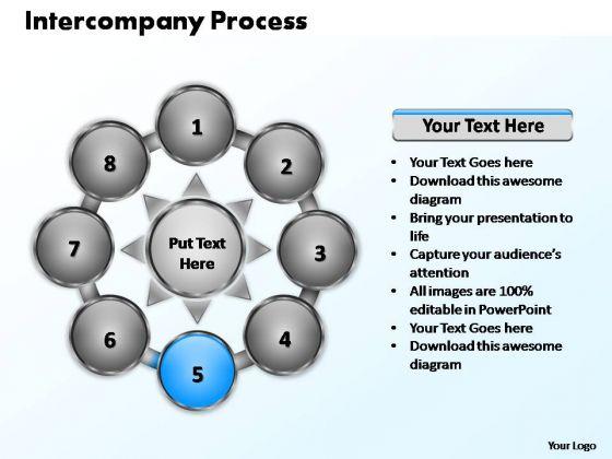 PowerPoint Slide Designs Graphic Intercompany Process Ppt Slides