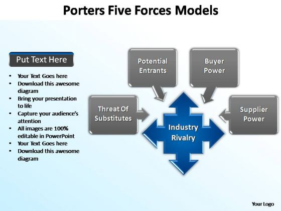 PowerPoint Slide Designs Graphic Porters Forces Ppt Slide