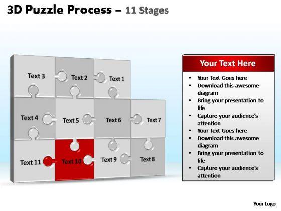 PowerPoint Slide Designs Graphic Puzzle Process Ppt Designs