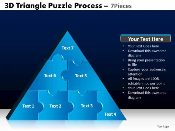 PowerPoint Slide Designs Graphic Triangle Puzzle Ppt Layouts