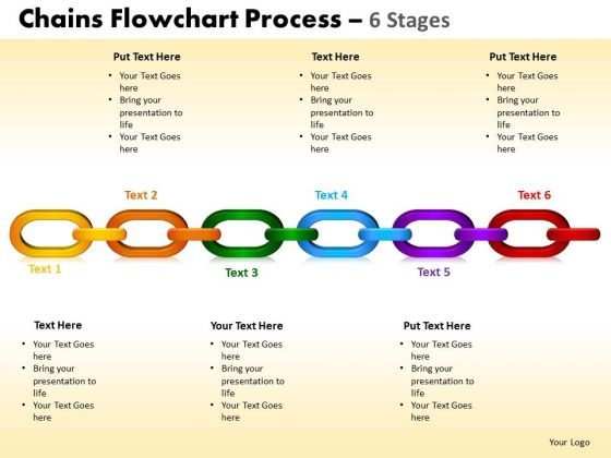 PowerPoint Slide Designs Growth Chains Flowchart Ppt Design