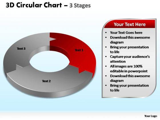 PowerPoint Slide Designs Growth Circular Chart Ppt Template