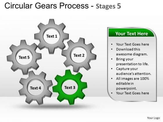 PowerPoint Slide Designs Growth Circular Gears Ppt Layouts