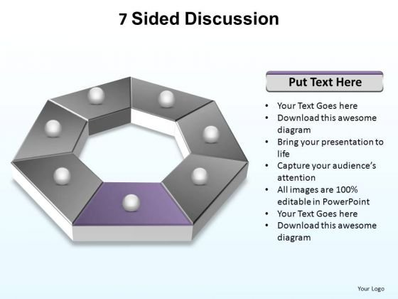 PowerPoint Slide Designs Growth Sided Discussion Ppt Design Slides