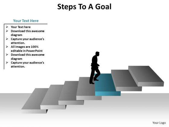 PowerPoint Slide Designs Growth Steps To A Goal Ppt Design Slides