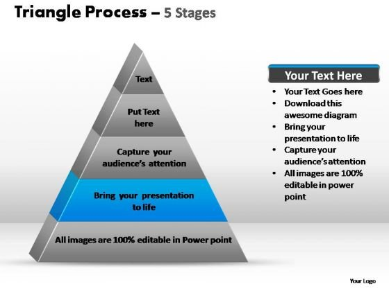 PowerPoint Slide Designs Growth Triangle Process Ppt Design Slides