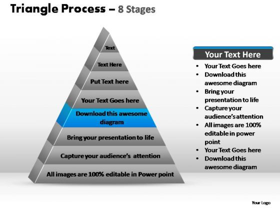 PowerPoint Slide Designs Growth Triangle Process Ppt Template
