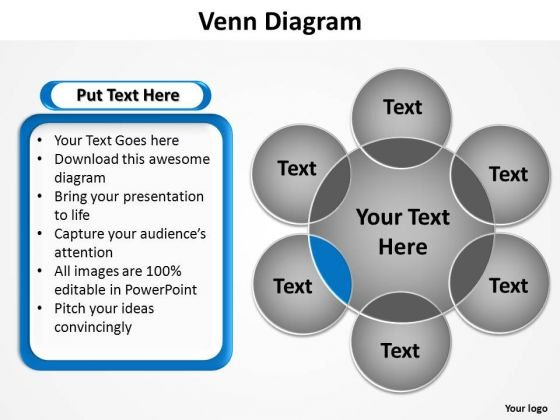 PowerPoint Slide Designs Growth Venn Diagram Ppt Themes