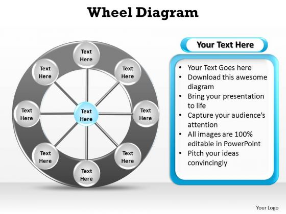 PowerPoint Slide Designs Growth Wheel Diagram Ppt Template
