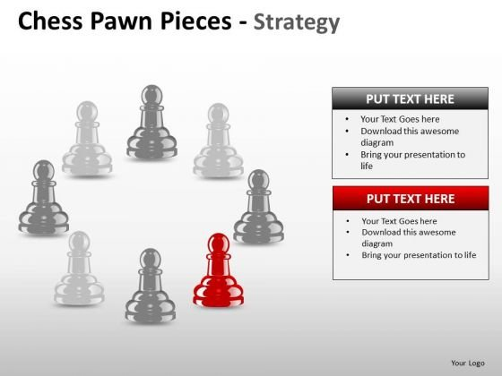 PowerPoint Slide Designs Image Chess Pawn Ppt Process