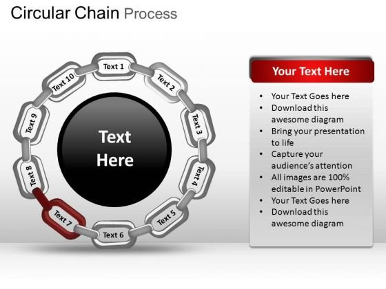 PowerPoint Slide Designs Image Circular Chain Ppt Layout