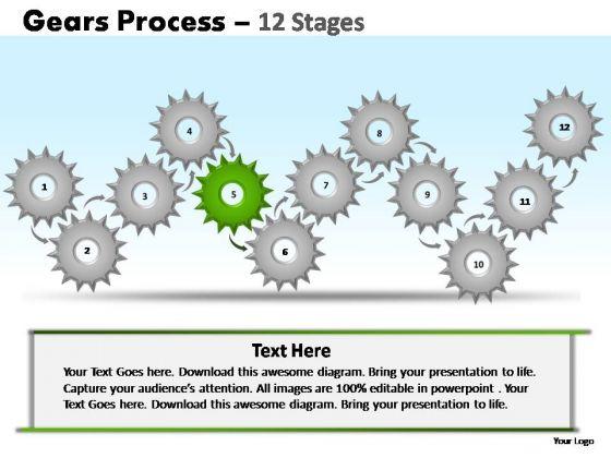 PowerPoint Slide Designs Leadership Gears Ppt Design Slides