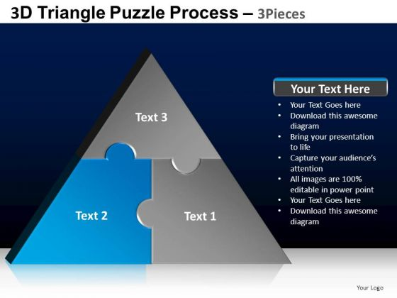 PowerPoint Slide Designs Leadership Triangle Puzzle Ppt Slides