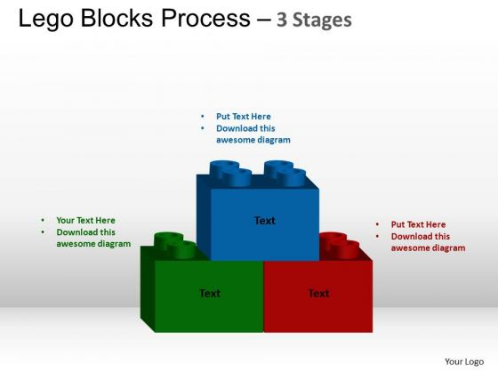 PowerPoint Slide Designs Process Lego Blocks Ppt Slide Designs