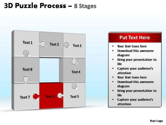 PowerPoint Slide Designs Process Puzzle Process Ppt Template