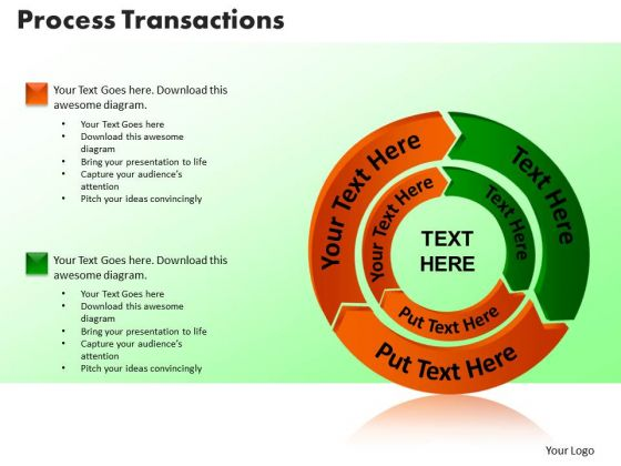 PowerPoint Slide Designs Process Transaction Teamwork Ppt Backgrounds