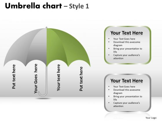 PowerPoint Slide Designs Process Umbrella Chart Ppt Templates