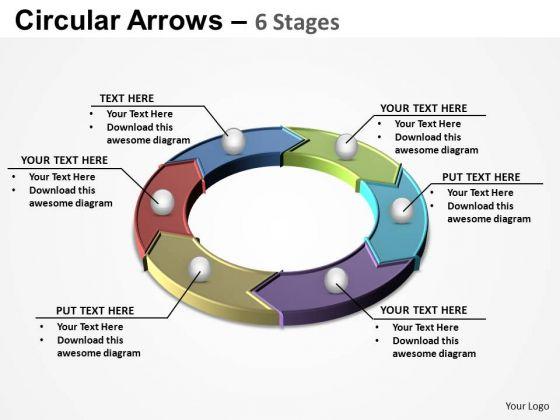 PowerPoint Slide Designs Sales Circular Arrows Ppt Presentation
